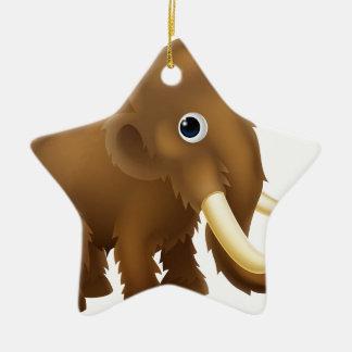 Wooly Mammoth Cartoon Ceramic Ornament
