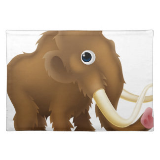 Wooly Mammoth Cartoon Cloth Placemat