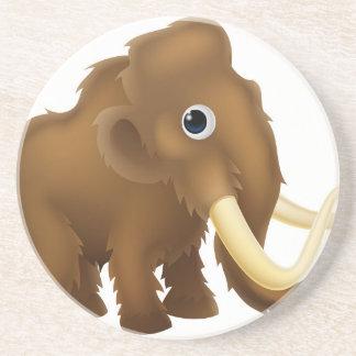 Wooly Mammoth Cartoon Drink Coaster