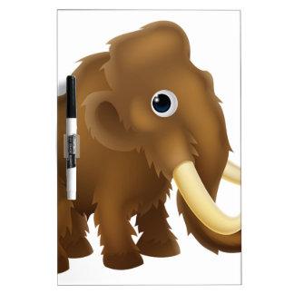 Wooly Mammoth Cartoon Dry Erase Board