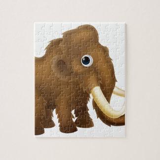 Wooly Mammoth Cartoon Jigsaw Puzzle