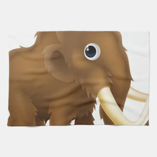 Wooly Mammoth Cartoon Kitchen Towels