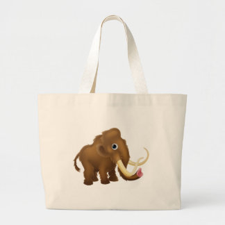 Wooly Mammoth Cartoon Large Tote Bag