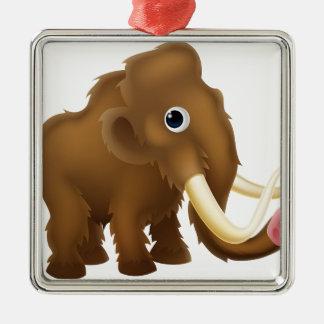 Wooly Mammoth Cartoon Metal Ornament