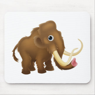 Wooly Mammoth Cartoon Mouse Pad