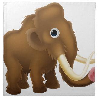 Wooly Mammoth Cartoon Napkin