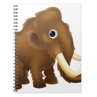 Wooly Mammoth Cartoon Notebook