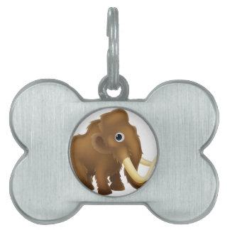 Wooly Mammoth Cartoon Pet Name Tag