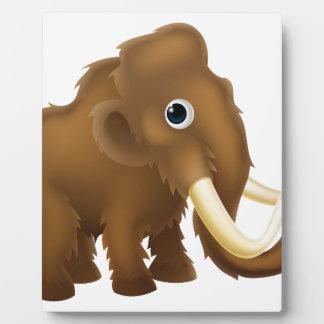 Wooly Mammoth Cartoon Plaque