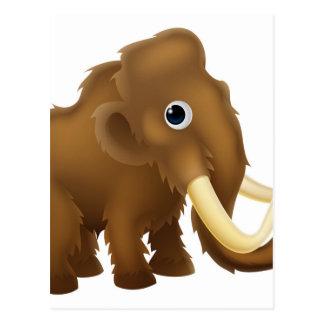 Wooly Mammoth Cartoon Postcard