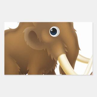Wooly Mammoth Cartoon Rectangular Sticker