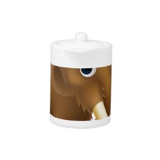 Wooly Mammoth Cartoon Teapot