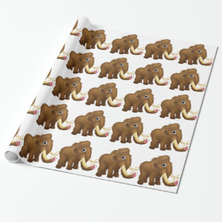 Wooly Mammoth Cartoon Wrapping Paper