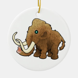 Wooly Mammoth Ceramic Ornament