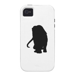 Wooly Mammoth Silhouette Case For The iPhone 4