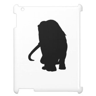Wooly Mammoth Silhouette iPad Case