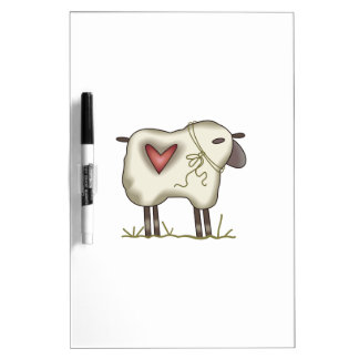 WOOLY SHEEP DRY ERASE WHITEBOARDS