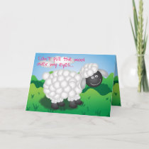 Wooly Sheep Valentine Holiday Card