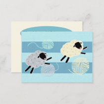 Wooly Sheep  Yarn Crochet Knit Business Card