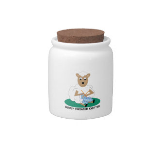 Wooly Sweater Knitter Candy Jar