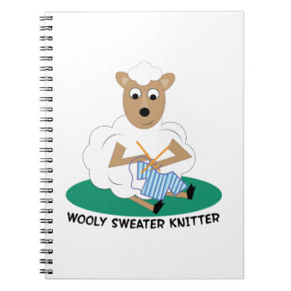Wooly Sweater Knitter Note Book