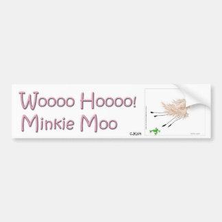 Wooo Hooo Minkie Moo Car Bumper Sticker