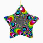 Woooo Mandelbrot Fractal Ceramic Ornament