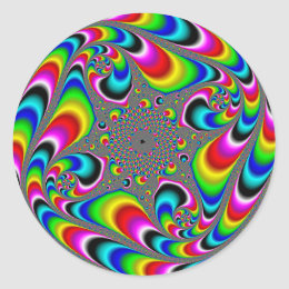 Woooo Mandelbrot Fractal Classic Round Sticker