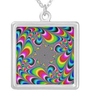 Woooo Mandelbrot Fractal Silver Plated Necklace