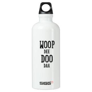 woop de doo da aluminum water bottle