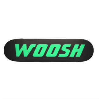 WOOSH - Sharp Neon Green on Black Skate Board Deck