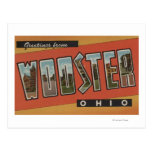 Wooster, letra ScenesWooster, OH de OhioLarge Postal