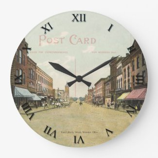 Wooster Ohio Post Card Clock - East Liberty Street
