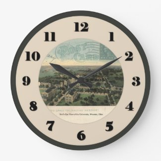 Wooster Ohio post card clock - University 1914