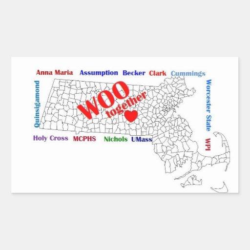 WOOstick Rectangular Sticker