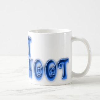 WOOT - blue curly font Coffee Mug