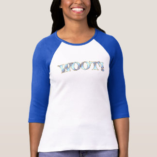 WOOT ~ Blue,Lavender & Gold T-Shirt