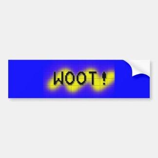 woot car bumper sticker