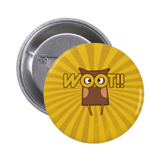 Woot Congrats Owl Buttons