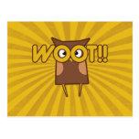 Woot Congrats Owl Post Card