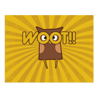 Woot Congrats Owl Postcard