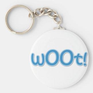 wOOt! Basic Round Button Keychain