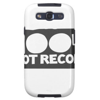 Woot Records Stuff Samsung Galaxy S3 Covers