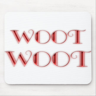 WOOT- Red Mouse Pad