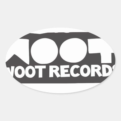 Woot registra la materia pegatina ovalada
