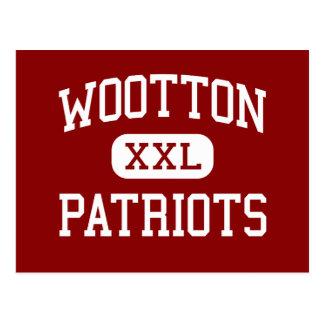 Wootton - patriotas - alto - Rockville Maryland Tarjetas Postales