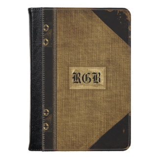 Wopsle Sepia Fire Old Book Style Monogram Kindle Case