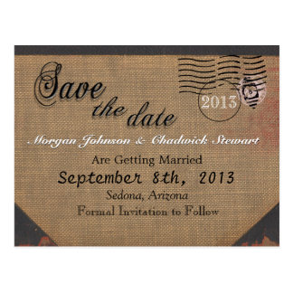 Wopsle Sepia Save the Date Postcard