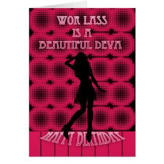 Wor lass is a beautiful deva - Geordie Birthday Ca Greeting Card