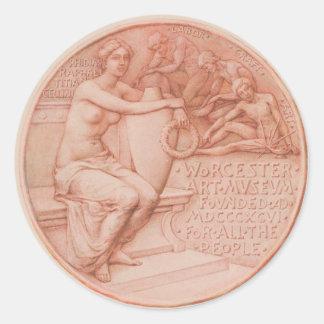 Worcester Art Museum - Seal Design Classic Round Sticker